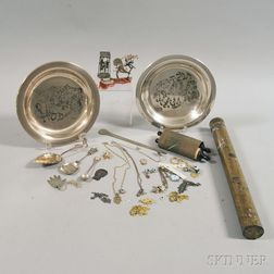 Assortment of Judaic-themed Silver, Jewelry, and Decorative Articles