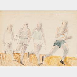 Robert Andrew Parker (American, b. 1927)      Four Runners