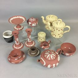 Fifteen Pieces of Modern Wedgwood Jasperware