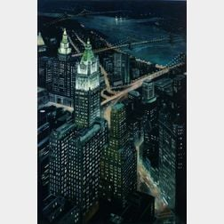 Richard Haas (American, b. 1936)    Woolworth Building
