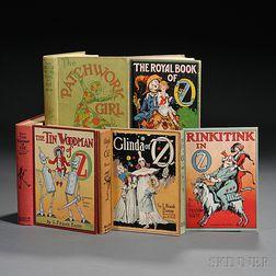 [Wizard of Oz] L. Frank Baum (1856-1919) Five Titles.