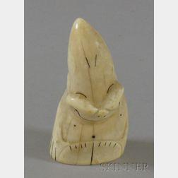 Inuit Carved Ivory Figure of a Billiken