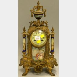 19th Century French Porcelain-mounted Mantel Clock