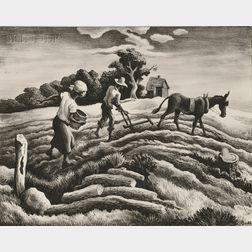 Thomas Hart Benton (American, 1889-1975)      Planting