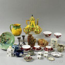 Approximately Twenty-nine Ceramic, Soapstone, and Enamel Items