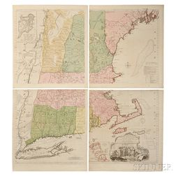 New England. Braddock Mead (c. 1688-1757) A Map of the Most Inhabited Part of New England Containing the Provinces of Massachusetts Bay