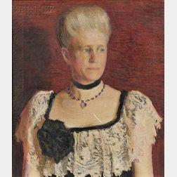 Lilian Coleman Westcott Hale (American, 1880-1963)      Portrait of Mrs. Julie Bulkley