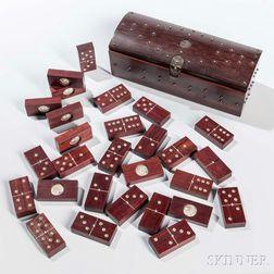 Boxed Hardwood Domino Set
