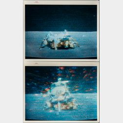 Apollo 15, Lunar Module, Liftoff Sequence, Four Photographs.