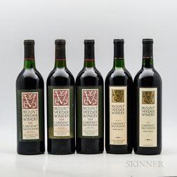 Mount Veeder Winery Cabernet Sauvignon, 5 bottles