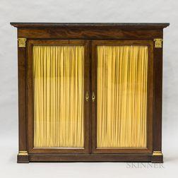 Neoclassical-style Mahogany-veneered Marble-top Bookcase