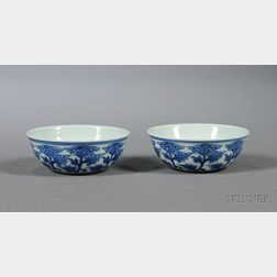 Pair of Porcelain Wine Cups
