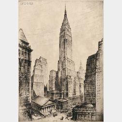 Anton Schutz (German/American, 1894-1977)      Bank of Manhattan Trust Company Building.