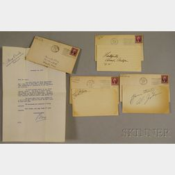 Charlie Chaplin, Fred Astaire, Al Jolson, and Bing Crosby Autographs