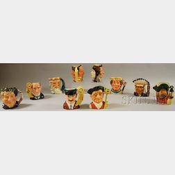 Ten Assorted Royal Doulton Ceramic Character Jugs