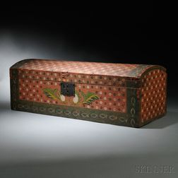 Polychrome Paint-decorated Dome-top Box