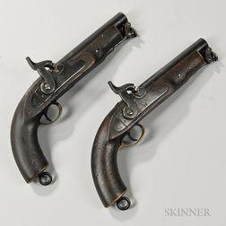 Pair of Reproduction British Percussion Sea Service Pistols