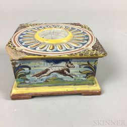 Faience Pottery Ink Stand