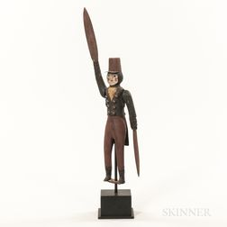 Carved and Painted Militia Soldier Whirligig