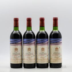 Chateau Mouton Rothschild 1980, 4 bottles