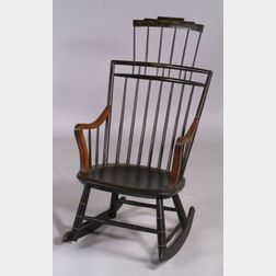 Painted Windsor Comb-back Armed Rocking Chair