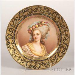 Vienna Porcelain Portrait Cabinet Plate