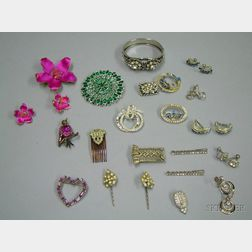 Group of Paste Costume Jewelry