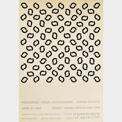 Bridget Riley (American, b. 1931)      Dedication Visual Arts Building Albion, College