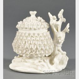 Mennecy White Glazed Porcelain Potpourri Jar and Cover