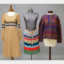 Three Vintage Missoni Wool Women's Clothing Items
