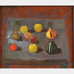 Costantino Spada (Italian, 1922-1975)      Apples, Pears, and Pomegranate