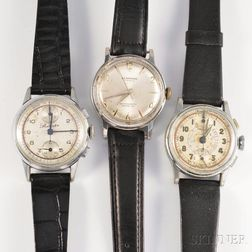 Three Vintage Manual-wind Wristwatches