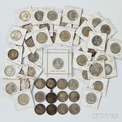 Fifty-three U.S. Commemorative Half Dollars