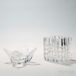 Two Orrefors Glass Vases