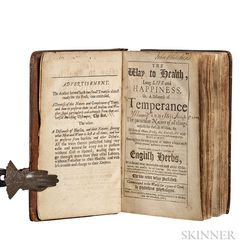 Tryon, Thomas (1634-1703) The Way to Health, Long Life and Happiness; or a Discourse of Temperance.