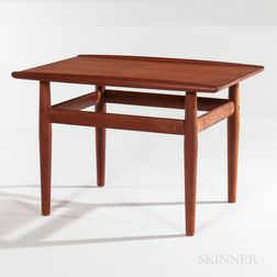 Grete Jalk for Glostrup Mobelfabrik Teak Side Table with Brass Accents