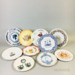 Ten English Queen Victoria Commemorative Plates