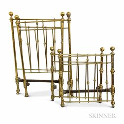 Pair of Brass Beds