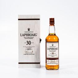Laphroaig 30 Years Old 1985, 1 750ml bottle (owc)