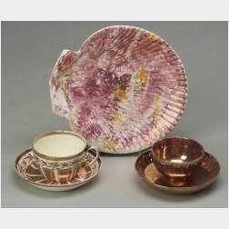 Three Wedgwood Lustre Decorated Items