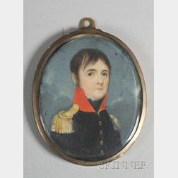 Portrait Miniature of a Military Officer