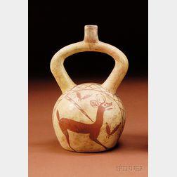 Pre-Columbian Painted Stirrup Spout Vessel