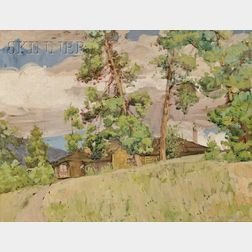 Jane Peterson  (American, 1876-1965)      His Bungalow