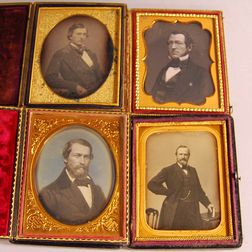 Four Quarter-plate Daguerreotype Portraits of Gentlemen