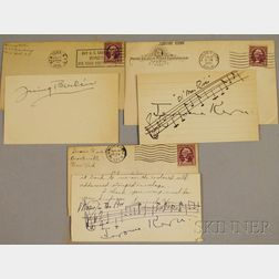 Jerome Kern and Irving Berlin Autographs