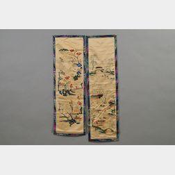 Pair of Cream Silk Panels