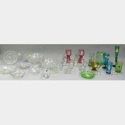 Twenty-six  Assorted Decorative Glass Items