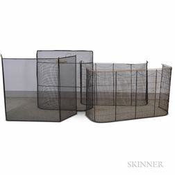Four Wirework and Mesh Fire Screens