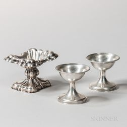 Three Austro-Hungarian Silver Salt Cellars