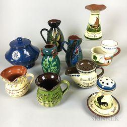 Ten Torquay Pottery Tableware Items
